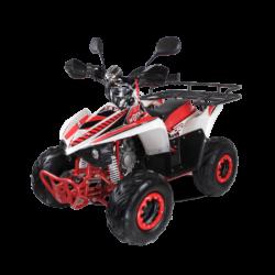 Подростковый квадроцикл бензиновый MOTAX ATV MIKRO 110 cc бело- красный  (пульт контроля, электростартер, до 45 км/ч)